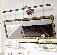 SJUN Amerikanische Spiegel Leuchten Led Europäischen Spiegel Lampe Vintage Spiegel Schrank Leichte Feuchtigkeit Toilette Rost Kommode Lampen,50Cm (B) Weiß