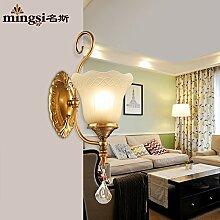 SJUN-amerikanischen Einfachheit Vintage Dorf Schmiedeeiserne Wandleuchte Nachttischlampe Wohnzimmer Schlafzimmer Flur Beleuchtung Lampe an der Wand