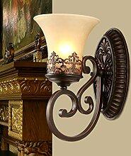 SJUN-amerikanischen Einfachheit Wandleuchte Nachttischlampe Schlafzimmer im europäischen Stil Wohnzimmer Lampe Wandleuchte Gang