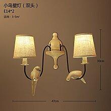 SJUN-amerikanischen ländlichen Wandleuchte Continental Art Vintage kreative Schlafzimmer Wand Lampe Nachttischlampe,B
