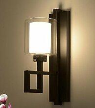 SJUN-Antike neue Chinesische Mauer Lampe Nachttischlampe Schlafzimmer Wohnzimmer Treppe im Flur Studie Wandleuchte