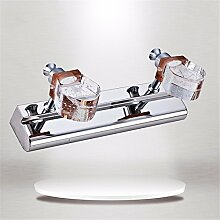 SJUN Crystal Spiegel Scheinwerfer 30Cm_6Wled Wänden Crystal Spiegel Scheinwerfer Lampe,Positives Weiß