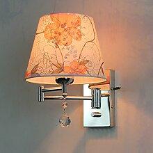 SJUN-Crystal Wand Lampe Nachttischlampe Schlafzimmer Bett Skalenendwert (Wippschalter) Wandleuchten,I