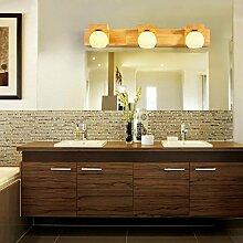 SJUN-Einfache, moderne chinesische Wohnzimmer Massivholz Spiegel Lampe Wandleuchte Nachttischlampe Schlafzimmer Badezimmer Led lampen Holz,B