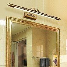SJUN Europäischen Spiegel Schrank Leichte Amerikanische Toilette Wc Bad Beleuchtung Led Einfache Retro-Einfache Europäischen Spiegel Lampe,50Cm Warmes Lich