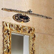 SJUN Europäischen Stil Spiegel Leuchten Led Bad Bad Spiegel Schrank Amerikanischen Kosmetische Kabinett Licht,60Cm