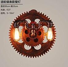 SJUN-industriellen Wind kreativen Persönlichkeit Gang Wandleuchte Iron Bar Cafe Bar (Rohr), eine Lampe an der Wand