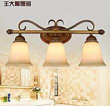SJUN-kreative amerikanische Spiegel im europäischen Stil Moderner, minimalistischer Wohnzimmer Wand Lampe Nachttischlampe Licht Schmiedeeiserne Wandleuchte