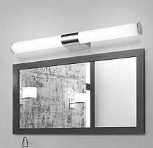 SJUN Led Spiegel Licht Minimalismus Moderne Edelstahl Bad Wc Schlafzimmer Spiegel Schrank Lampe Wandleuchte Lampe Make-Up,80Cm Weiß