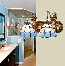SJUN Meerjungfrau Lampe Doppelte Badezimmer Balkon Bad Led Spiegel Wandleuchten