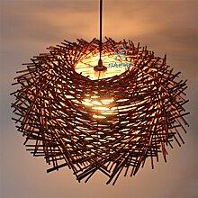 SJUN Moderne Kreative Led Kronleuchter Garten Rattan Lampe