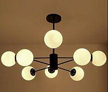 SJUN Nordische Moderne Minimalistische Led Kronleuchter Kreative Amerikanische Kugel Glaslampe