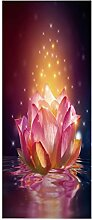 SJXCDZ DIY Dekor abnehmbare Tür Aufkleber, Lotus