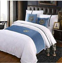 SjyBed Bettläufer Schal Betttisch Bettbezug