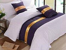 SjyBed Bettläufer Schal Betttisch Bettüberzug