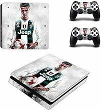 SJYMKYC CR7 Und Messi PS4 Slim Skin Aufkleber Für