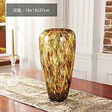 Sjzgd Glasvase/Heimtextilien. Dekoration Wohnzimmer Obst Eimer Kunst Gold Große Vase, Vase