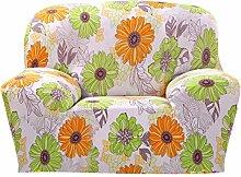 SK Studio Moderner Stil Stretchhusse Hussen Für Sofa Couchhusse Sofabezug Bi-Elastische Einfache Installation Blume Zeichnung 2 Sitzer 235-300CM