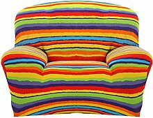SK Studio Moderner Stil Stretchhusse Hussen Für Sofa Couchhusse Sofabezug Bi-Elastische Einfache Installation Regenbogen 2 Sitzer 235-300CM