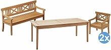 Skagerak Drachmann Gartenset 190x86 Tisch + 2