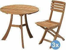 Skagerak Vendia Gartenset 75 Tisch + 3 Stühle