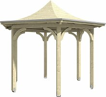 Skan Holz 6-Eck-Pavillon Versailles, Durchmesser 418 cm, Leimholz