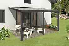 Skan Holz Aluminium-Terrassenüberdachung Garda 434 x 307 cm, anthrazit, Doppelstegplatten