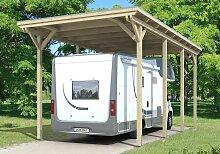 Skan Holz Caravan Carport Emsland, Leimholz, 404 x 846 cm, unbehandelt