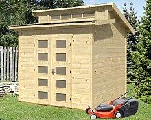 Skan Holz Gartenhaus Gent, 250 x 250 cm, 28 mm, unbehandelt