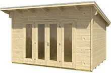 Skan Holz Gartenhaus Ostende 1, 350 x 250 cm, 28 mm, unbehandelt