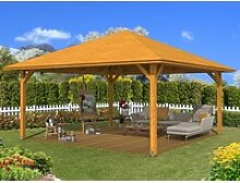 Skan Holz Holz-Pavillon Cannes 4 Eiche hell