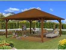 Skan Holz Holz-Pavillon Cannes 4 Nussbaum lasiert