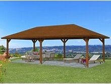 Skan Holz Holz-Pavillon Orleans 3 Nussbaum lasiert