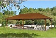Skan Holz Holz-Pavillon Orleans 4 Nussbaum lasiert