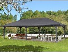 Skan Holz Holz-Pavillon Orleans 4 Schiefergrau