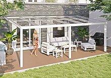SKAN HOLZ Terrassenüberdachung Monza 648 x 307