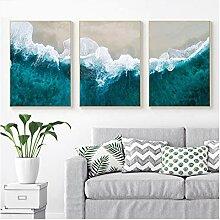 Skandinave Meer Ozean Landschaft Leinwand Art Wand