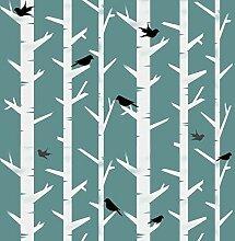 skandinavisch Bäume & Vögel Muster