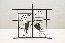 Skandinavische Fenster-Eisengitter mit Fisch- und