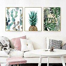 Skandinavische grüne Pflanze Ananas-Plakat