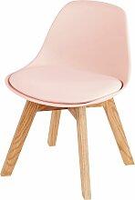 Skandinavischer Kinderstuhl aus Eiche, rosa Ice