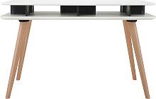 Skandinavischer Schreibtisch weiß und schwarz mit