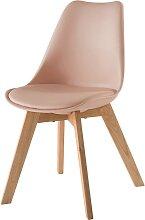 Skandinavischer Stuhl mit massiver Eiche,