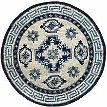 Skandinavischer Teppich, rund, mit Bünden-Motiv