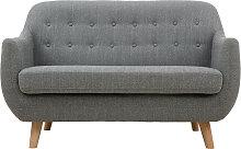 Skandinavisches 2-Sitzer-Sofa mit hellgrauem