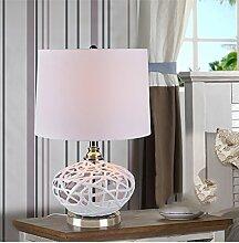 SKC LIGHTING Chinese hohlen Keramiklampe Schlafzimmer Nachttischlampe warmweiß minimalistisch moderne europäische Tischlampe kreative Dekoration