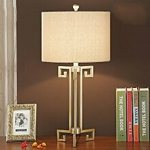 SKC LIGHTING Chinese nostalgischen Retro Lamp Hotel Wohnzimmer Tisch-Dekoration-Lampe Schlafzimmer Schlafzimmer Klassische amerikanische Nachttischlampe ( Farbe : Gold )