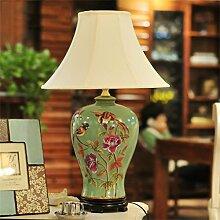 SKC LIGHTING Europäische kreative Mode Keramik großes modernes Wohnzimmer Schlafzimmer Nachttischlampe Dekoration