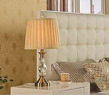 SKC LIGHTING Europäische Luxus Kristall Tischlampe Schlafzimmer Nachttischlampe modernen minimalistischen Wohnzimmer Lampe amerikanische kreative Dekoration