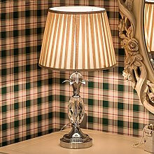 SKC LIGHTING Europäische Stil Schlafzimmer Kristall Tischlampe neoklassische Studie Wohnzimmer Lichter Einfache Mode Creative Nachttisch Lampe E27 Licht Mund